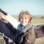 Gill Lewis with horse