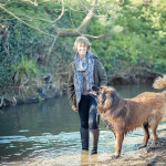 Gill Lewis with dog
